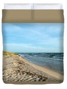 Water And The Beach Duvet Cover