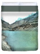 Water Body In The Himalayas Duvet Cover