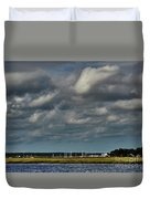 Water, Clouds And Sun. Duvet Cover