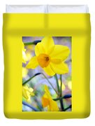 Water Color Daffodil Duvet Cover