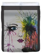 Water Colour - Face Duvet Cover