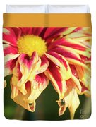 Water Drop On A Chrysanthemum Duvet Cover