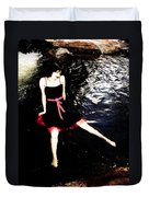 Water Faerie Duvet Cover by Scott Sawyer