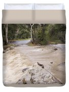 Water Flowing In The North Fork Duvet Cover