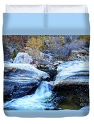 Water Flowing Through Rock Formation In Sabino Canyon II Duvet Cover