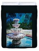 Water Fountain Acrylic Painting Art Print Duvet Cover