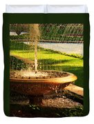 Water Fountain Garden Duvet Cover