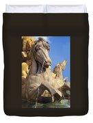Water Horse Sculpture Duvet Cover