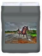 Water Horses Duvet Cover