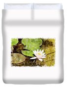 Water Hyacinth Two Wc Duvet Cover