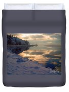 Water Ice Light And Highway 97 Duvet Cover