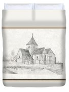 Water Inlet At Church Duvet Cover