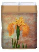 Water Iris - Textured Duvet Cover