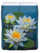 Water Lilies 12 - Fire And Ice Duvet Cover