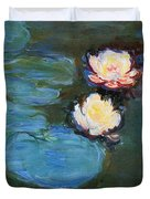 Water Lilies 1899 Duvet Cover