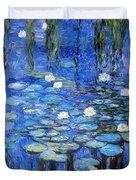 water lilies a la Monet Duvet Cover