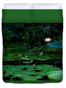 Water Lilies In The Pond Duvet Cover