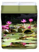 Water Lilies Tam Coc  Duvet Cover