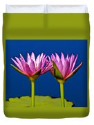 Water Lilies Touching Duvet Cover