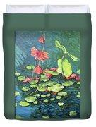 Water Lillies 1 Duvet Cover