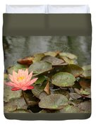 Water Lilly In Summer Duvet Cover