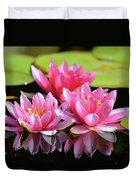 Water Lilly Triplets Duvet Cover