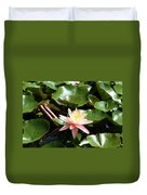Water Lilly With Dragonfly Duvet Cover