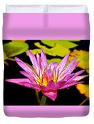 Water Lily After Rain 2 Duvet Cover