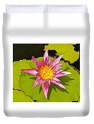 Water Lily After Rain 3 Duvet Cover