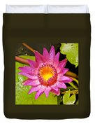 Water Lily After Rain 4 Duvet Cover