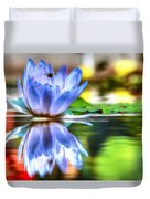 Water Lily And Bee Duvet Cover