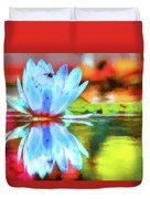 Water Lily And Bee Pastel Duvet Cover