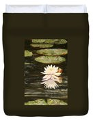 Water Lily And Pads Duvet Cover