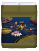 Water Lily And Platters Duvet Cover