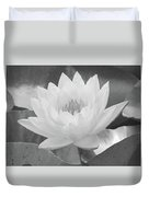 Water Lily - Burnin' Love 15 - Bw - Water Paper Duvet Cover