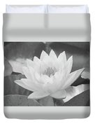 Water Lily - Burnin' Love 16 - Bw - Water Paper Duvet Cover