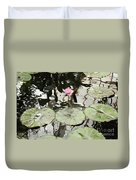 Water Lily Canvas Duvet Cover