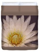 Water Lily Digital Painting Duvet Cover
