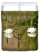 Water Lily Duet Duvet Cover