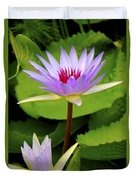 Water Lily In A Tropical Garden_4657 Duvet Cover