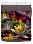 Water Lily In Living Color Duvet Cover