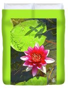 Water Lily In Pond Duvet Cover