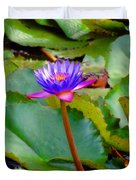 Water Lily In Tahiti Duvet Cover