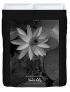 Water Lily Monochrome Duvet Cover