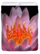 Water Lily On Fire Duvet Cover