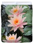 Water Lily Trio Duvet Cover