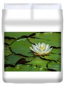 Water Lily With Friend Duvet Cover