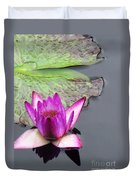 Water Lily With Rain Drops Duvet Cover