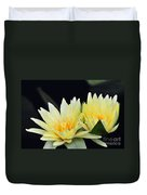 Water Lily Yellow Nymphaea Duvet Cover