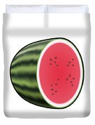 Water Melon Outlined Duvet Cover